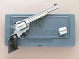 Ruger New Model Single-Six Hunter, Cal. .22 LR/.22 Mag. Cylinders, 7 1/2 Inch Barrel, Stainless Steel