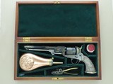 1971 Factory Engraved Navy Arms 1851 Colt Navy .36 Caliber Cap & Ball Revolver w/ Tiffany Style Grips, Fitted Case, & Accessories SALE PENDING