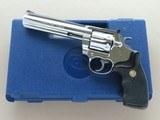 1986 Polished Stainless Steel Colt King Cobra .357 Magnum Revolver w/ Box & Paperwork** Stunning Mirror-Bright Polish **