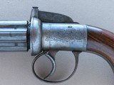 1840's Vintage British .40 Caliber Pepperbox Percussion Revolver** Beautiful Original Pepperbox In Very Fine Condition ** - 3 of 25