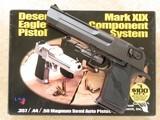 Magnum ResearchMK XIX Desert Eagle, 2 Barrels, .50AE & .44 Magnum, New/Unfired