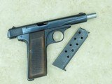 WW2 Nazi Germany Occupation FN Browning Model 1922 Pistol in .32 ACP** ALL-ORIGINAL & Matching **SOLD** - 19 of 21