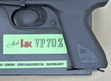 HK VP70 MINT AND UNFIRED WITH BOX AND ALL PAPERWORK, EXTRA MAGAZINE, 9MM MANUFACTURED 1981 SOLD - 2 of 16