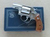 1969 Vintage Smith & Wesson Model 60 Stainless Chiefs Special .38 Spl. Revolver w/ Original Box, Manual, Etc.* Excellent Condition & Complete! *SOLD