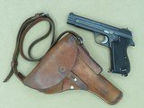 1968 Swiss Military Sig P49 9mm Pistol w/ Original Swiss Military Holster** Excellent All-Original Example **