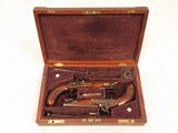 Sharp Maidstone Gentleman Pistols, Cased, .65 Cal. Percussion, Beautiful Condition - 1 of 26