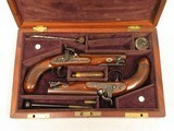 Sharp Maidstone Gentleman Pistols, Cased, .65 Cal. Percussion, Beautiful Condition - 2 of 26