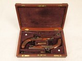 Sharp Maidstone Gentleman Pistols, Cased, .65 Cal. Percussion, Beautiful Condition - 25 of 26
