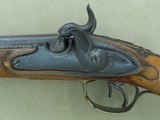 Antique Custom-Made Damascus Double Barrel .50 Caliber Percussion Pistol*Unmarked & Likely European in Origin ** - 3 of 25
