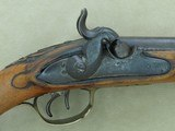 Antique Custom-Made Damascus Double Barrel .50 Caliber Percussion Pistol*Unmarked & Likely European in Origin ** - 7 of 25