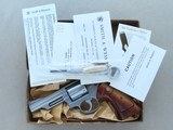 1975 Smith & Wesson Model 66 Stainless Combat Magnum Revolver in .357 Magnum w/ Original Box, Manual, Tool Kit, Etc. * FACTORY TEST FIRED ONLY! * - 25 of 25