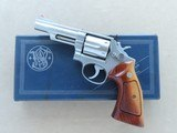 1975 Smith & Wesson Model 66 Stainless Combat Magnum Revolver in .357 Magnum w/ Original Box, Manual, Tool Kit, Etc. * FACTORY TEST FIRED ONLY! * - 1 of 25