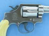 """1964 Vintage Nickel 6"""" Smith & Wesson Military & Police Model 10-5 .38 Special Revolver w/ Antique Bone Grips** Spectacular M&P Model! ** - 3 of 24"""