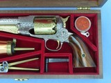 1973 Vintage Factory Engraved & Cased .44 Cal. Navy Arms Remington 1858 New Model Army Revolver w/ Fitted Case & Accessories** UNFIRED & Mint! ** - 4 of 25