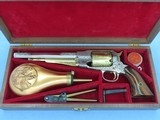 1973 Vintage Factory Engraved & Cased .44 Cal. Navy Arms Remington 1858 New Model Army Revolver w/ Fitted Case & Accessories** UNFIRED & Mint! **