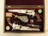 Engraved Signature Series Custer Colt 1861 Army's in Case, Cal. .36 Percussion