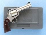 Ruger Super Blackhawk, Bisley Grip Frame, Cal. .454 Casull / .45 Long Colt, 4 5/8 Inch Barrel - 1 of 14
