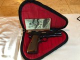 1982 Browning Hi-Power Pistol 9mm, Rug & Manual.