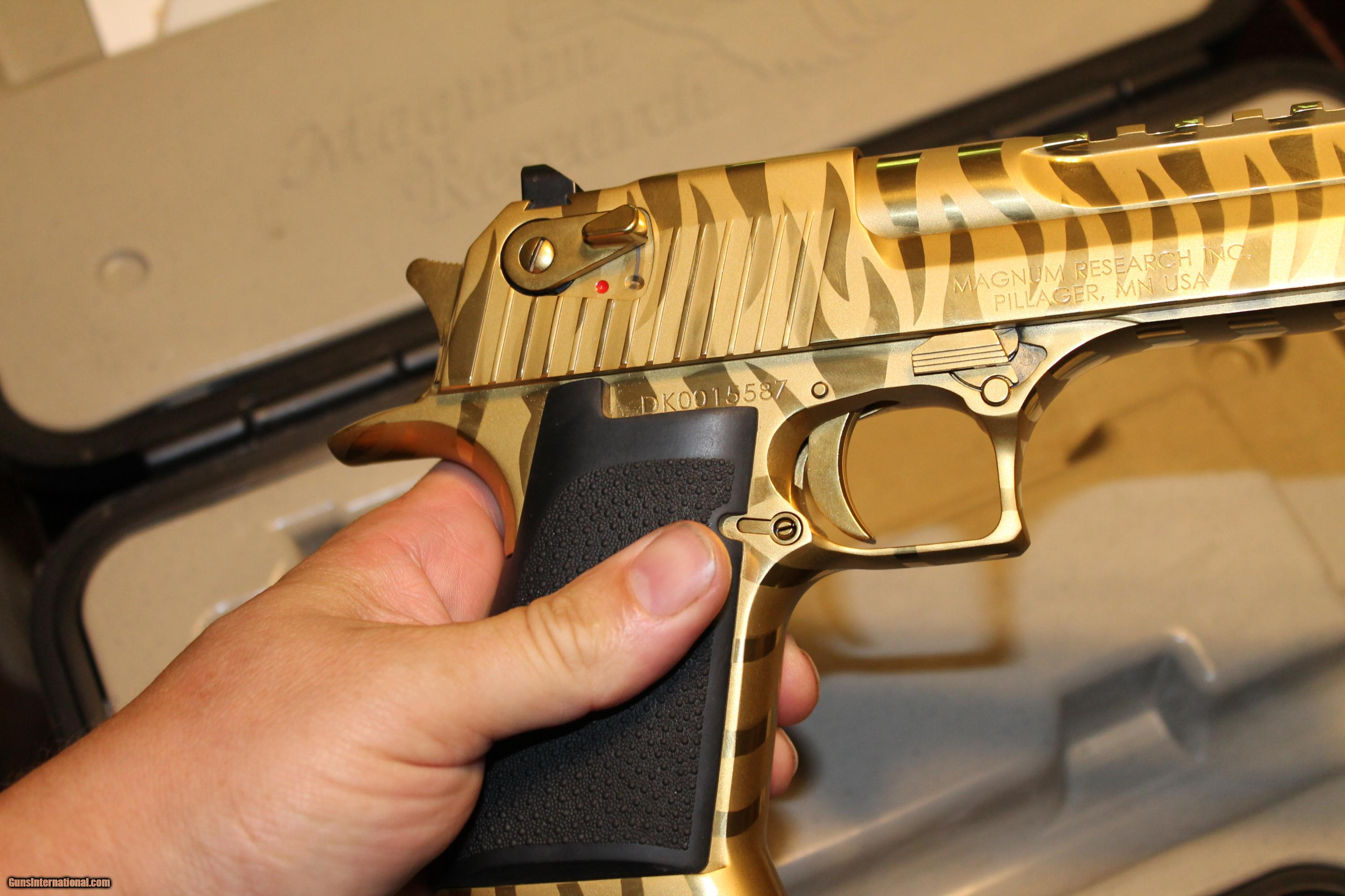 44 Mag Desert Eagle Gold Tiger Stripe