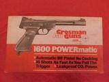 crossman 1600 powermatic