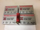 "WINCHESTER BLACK POWDER BLANK LOAD 12ga. 2-3/4"" XBP12"