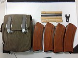 AK-74 MAGAZINES 5.45X39 WITH STRIPPER, LOADER & EAST GERMAN POUCH