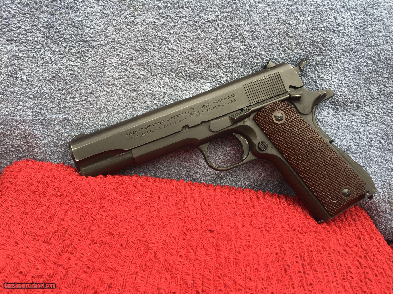 Original Rare WW2 Colt 1911A1 Commercial/Military for sale