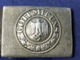 Original Pre-WW2 German Military Belt & Buckle Gott Mit Uns 1936 - 2 of 6