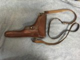 Original Early Holster with a Strap 1906 dated for Swiss Luger