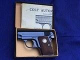 LNIB Colt Pocket Pistol Model 1908 .25 cal 1930