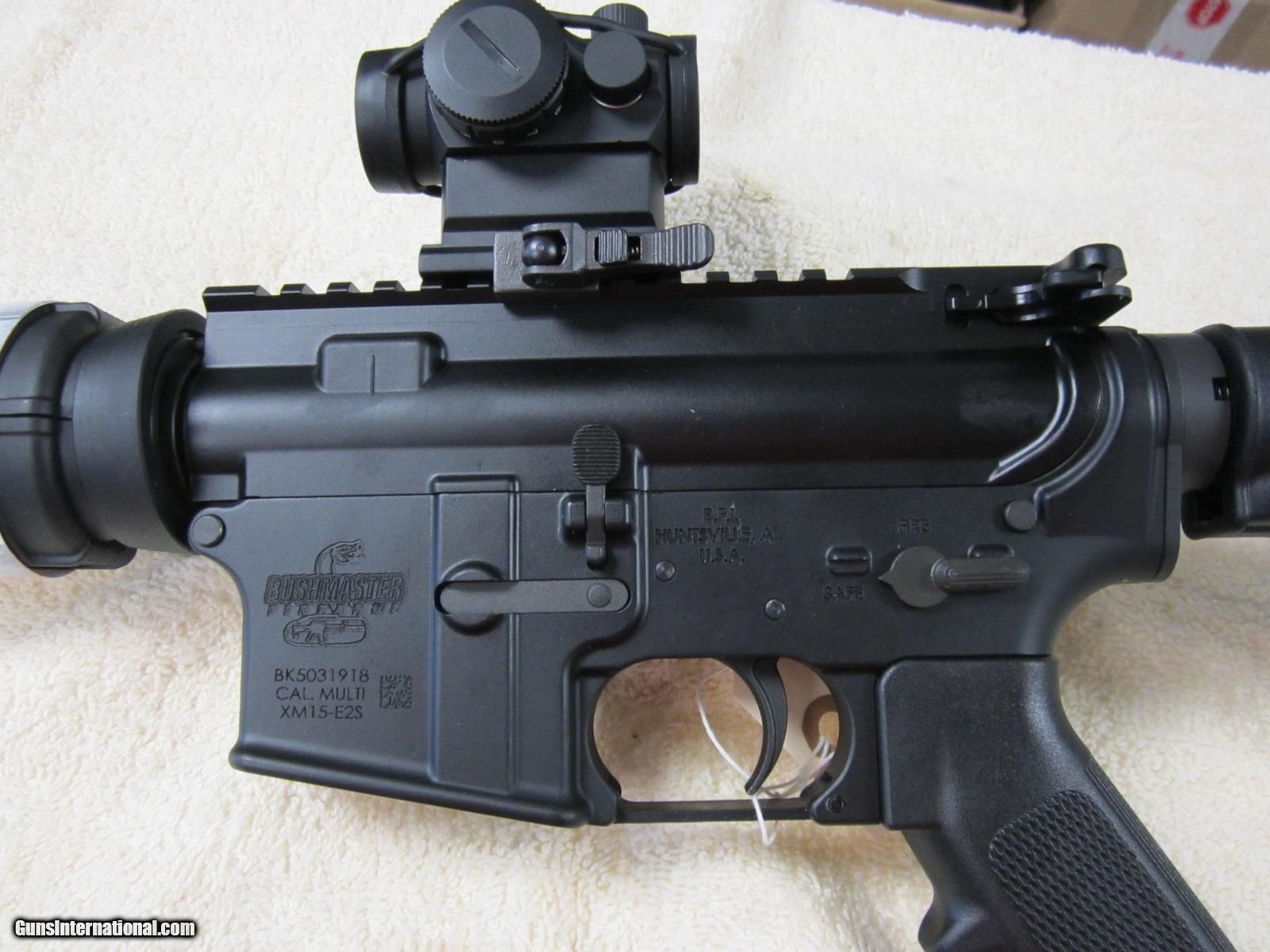 "Bushmaster QRC AR-15 .223 / 5.56 Red Dot 16"" Barrel New"