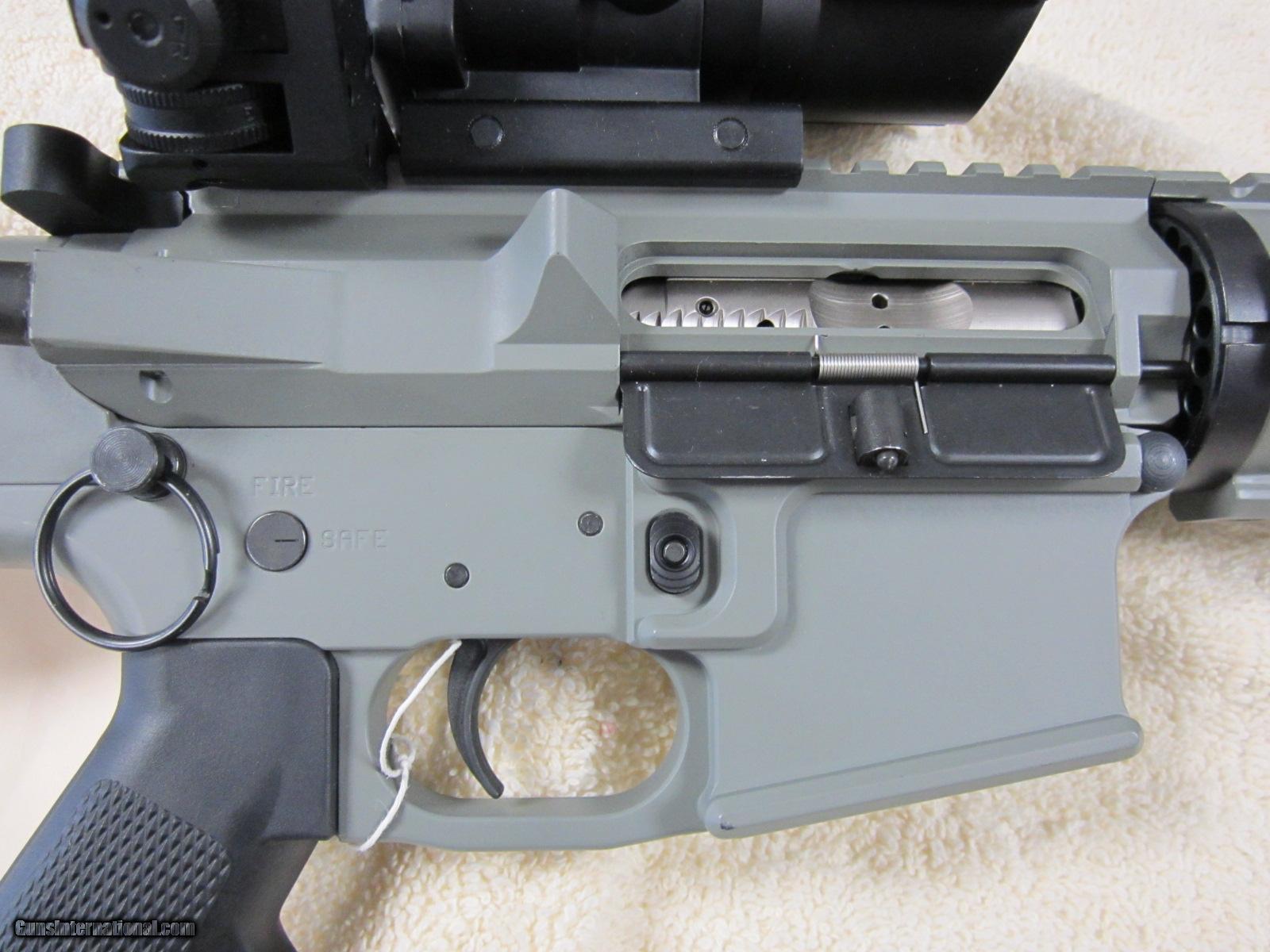 TKS Engineering Custom AR-15 HD Sniper 4x32 Scope 180 Iron