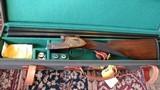 Armas Garbi 28 guage sidelock double barrels shotgun- cased - 2 of 9