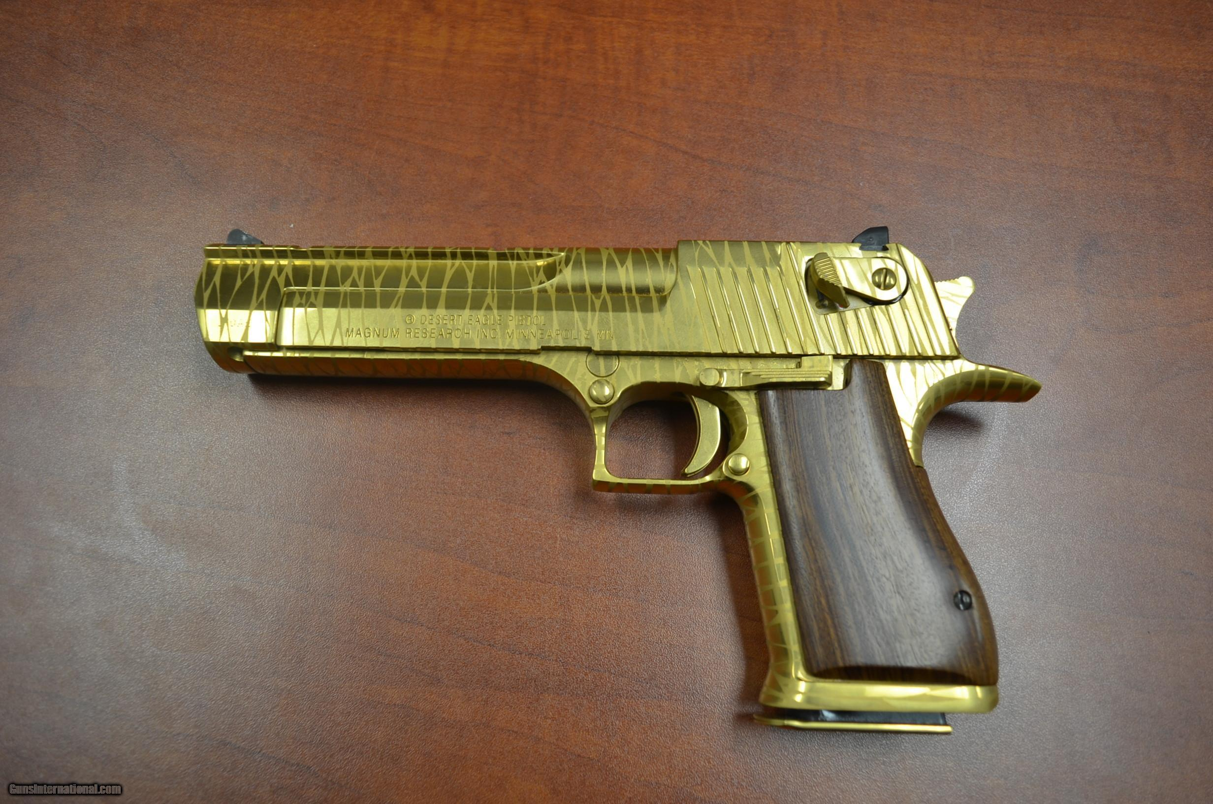 Magnum Research Desert Eagle Gold Tiger Stripe 50ae