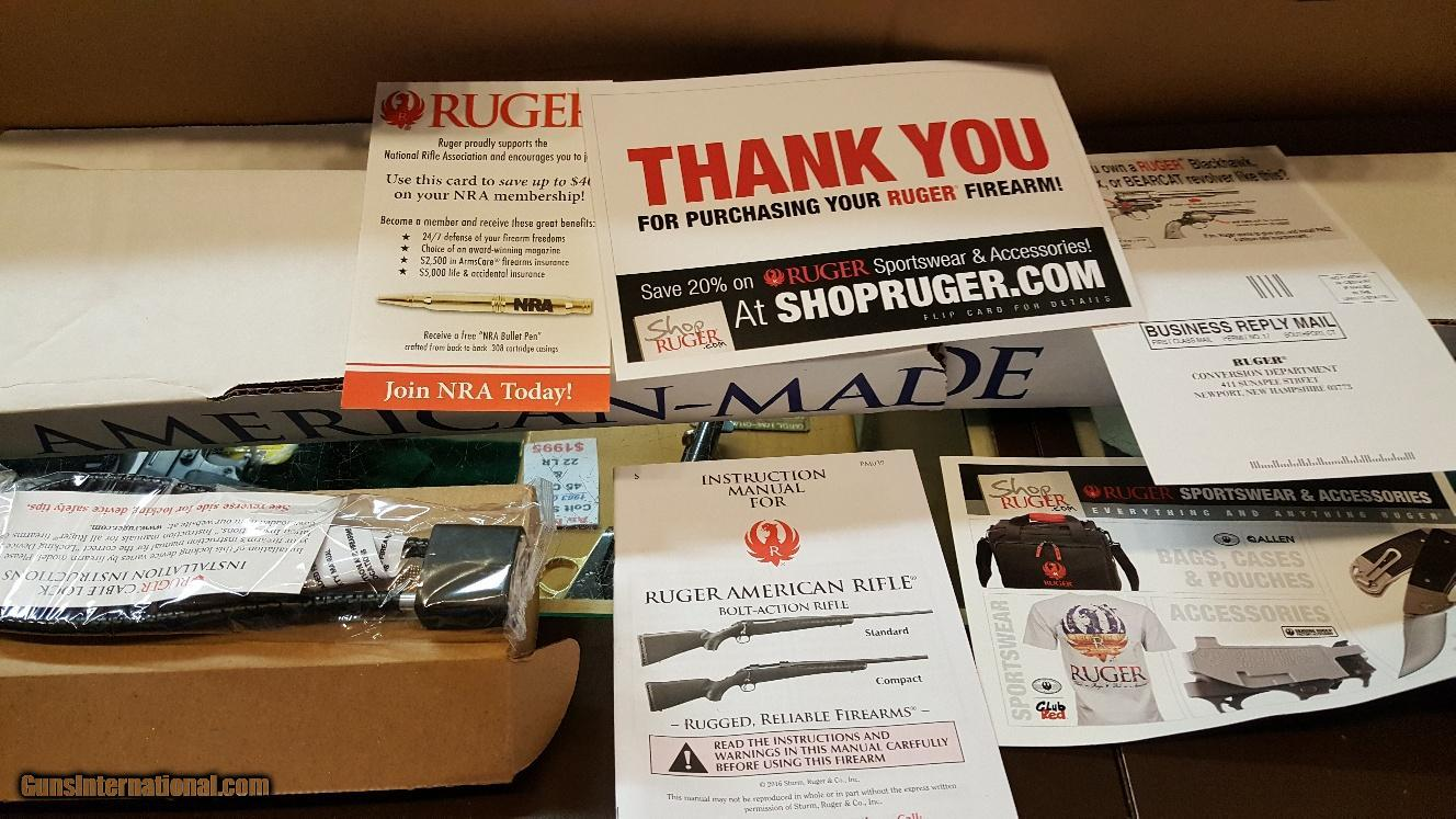 New in Box Ruger American Stainless Rifle - 22
