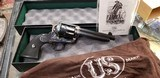 Gorgeous Never Fired USFA U.S. Firearms SAA in 45 Colt, Brilliant Case Colors by Turnbull, 5-1/2 inch With Box and Original Papers