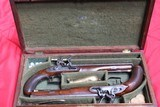 Original Cased set of Dueling Pistols Made by Lane in Brighton, England- NICE!!!!! - 1 of 15