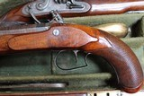 Original Cased set of Dueling Pistols Made by Lane in Brighton, England- NICE!!!!! - 12 of 15