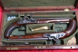 Original Cased set of Dueling Pistols Made by Lane in Brighton, England- NICE!!!!! - 2 of 15