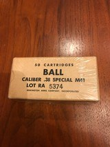 Sealed box of Remington Arms .38 Special Ball M41