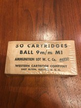 Sealed box of Western Cartridge Company 9mm Ball ammo