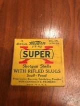Full Box of Western Super X .410 Rifled Slubs - Vintage