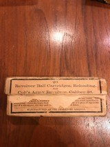 Vintage full (opened) box of 20 .38 Ball Cartridges from Frankford Arsenal