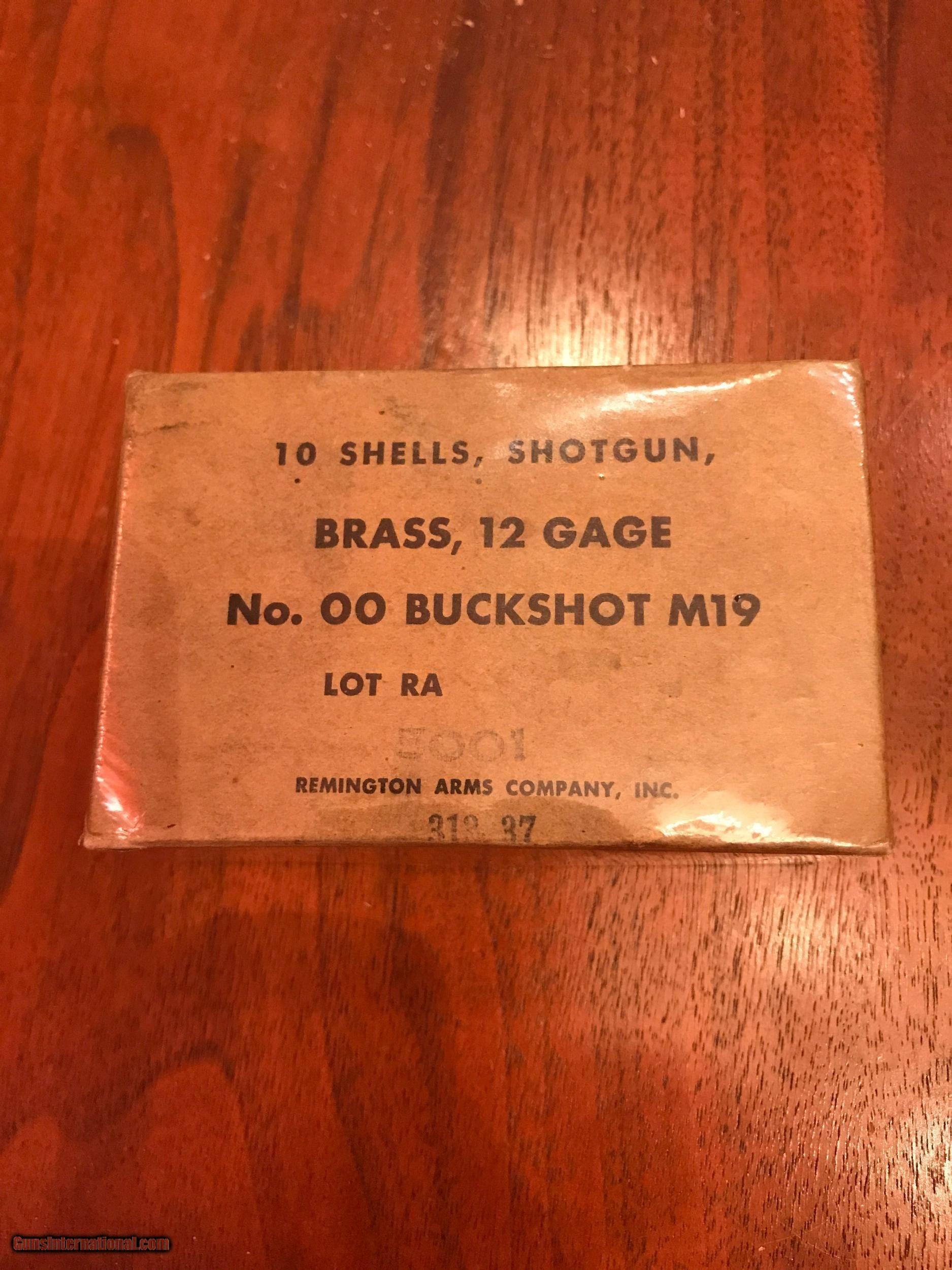 Box of WWII through Vietnam Era Remington Brass M19 Shotgun Shells