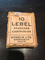 Box of 20 10 Lebel Kynoch Cartridges