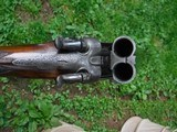 "CHARLES INGRAM – GLASCOW – 12 GA. HAMMER GUN – 27"" BARRELS SKT/CYL, STRAIGHT STOCK, DT, HEEL & TOE PLATES, BAR IN WOOD ACTION, GAME SCENE ENGRAVED, HA - 8 of 11"