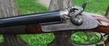 "CHARLES INGRAM – GLASCOW – 12 GA. HAMMER GUN – 27"" BARRELS SKT/CYL, STRAIGHT STOCK, DT, HEEL & TOE PLATES, BAR IN WOOD ACTION, GAME SCENE ENGRAVED, HA - 4 of 11"
