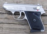 """WALTHER - TPH CAL. ,22LR - STAINLESS WITH BLACK GRIPS - OVER LENGTH 5 1/2"""" - DEPTH3 1/2"""" - MAG. CAPACITY 6 - 1 of 5"""