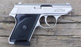 """WALTHER - TPH CAL. ,22LR - STAINLESS WITH BLACK GRIPS - OVER LENGTH 5 1/2"""" - DEPTH3 1/2"""" - MAG. CAPACITY 6 - 2 of 5"""