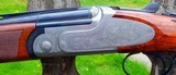 RIZZINI - ARTEMIS410 GAUGE - - SMALL ACTION - O/U COIN FINISH SIDEPLATED RECEIVERGAME SCENE ENGRAVED,28 VENT RIB - 3 of 9